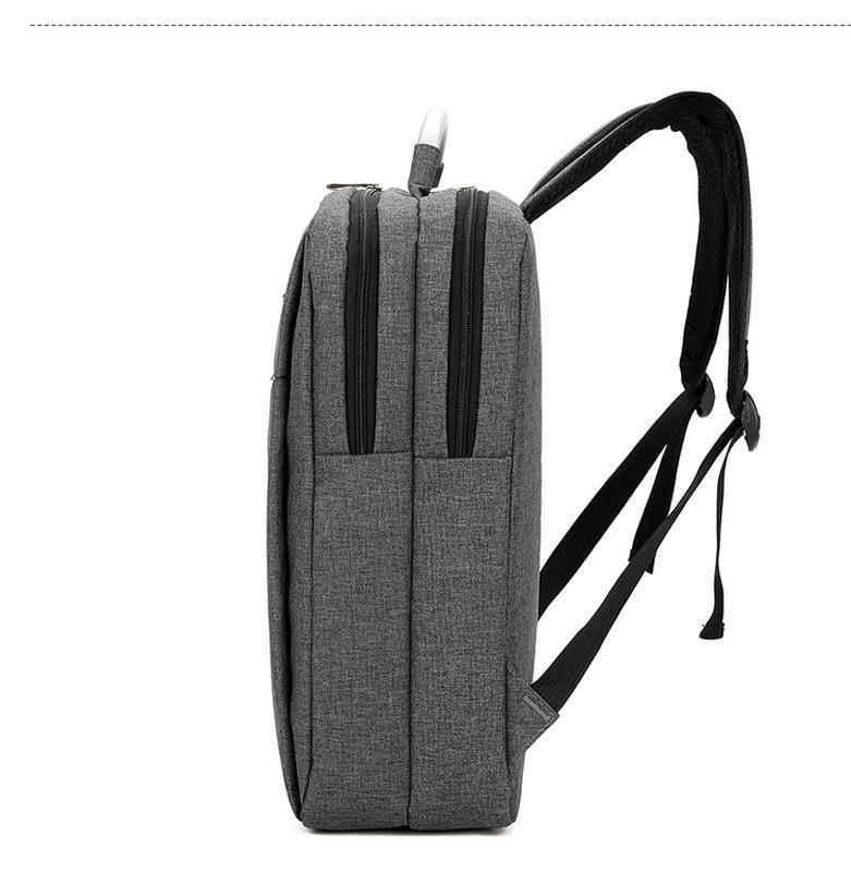Городской рюкзак usb для ноутбука серый - Фото 2