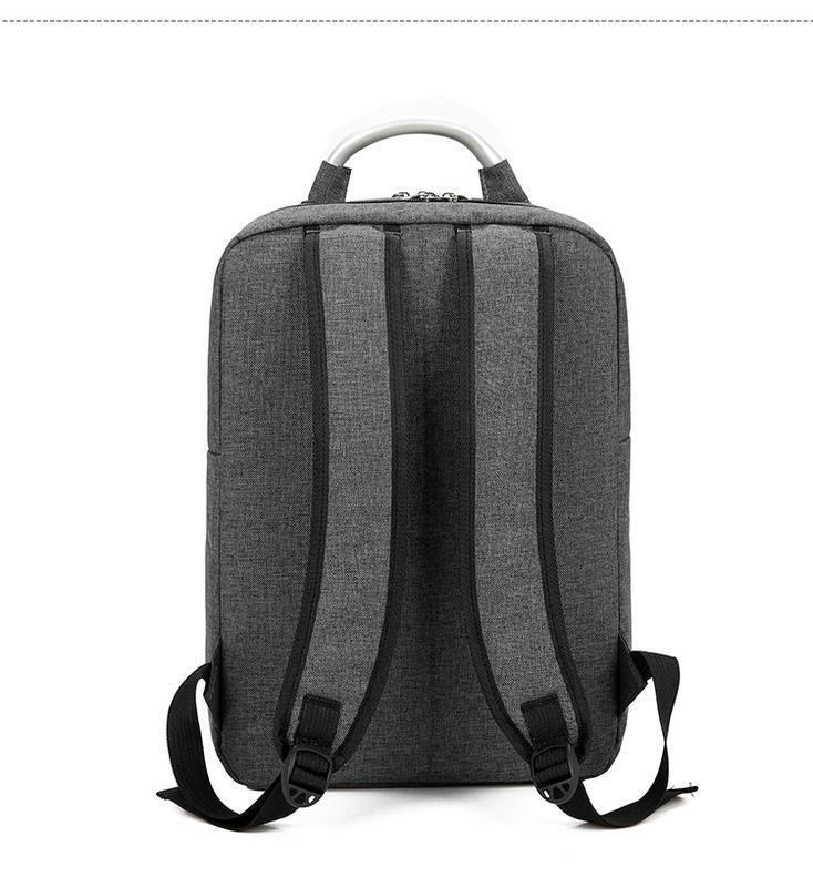 Городской рюкзак usb для ноутбука серый - Фото 3