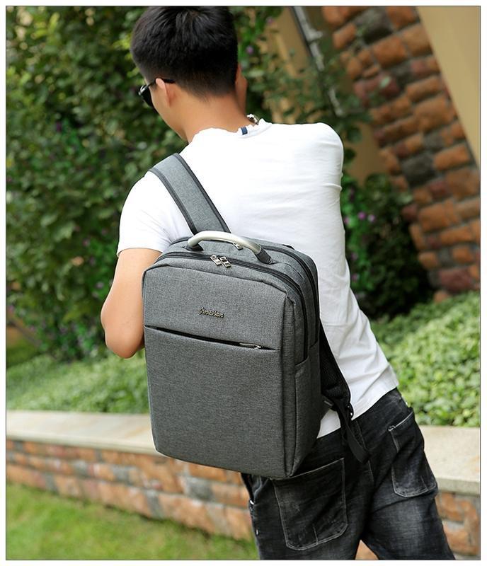 Городской рюкзак usb для ноутбука серый - Фото 4