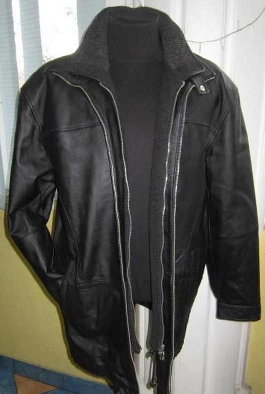 Хl  качественная утеплённая кожаная муж. куртка (3311)