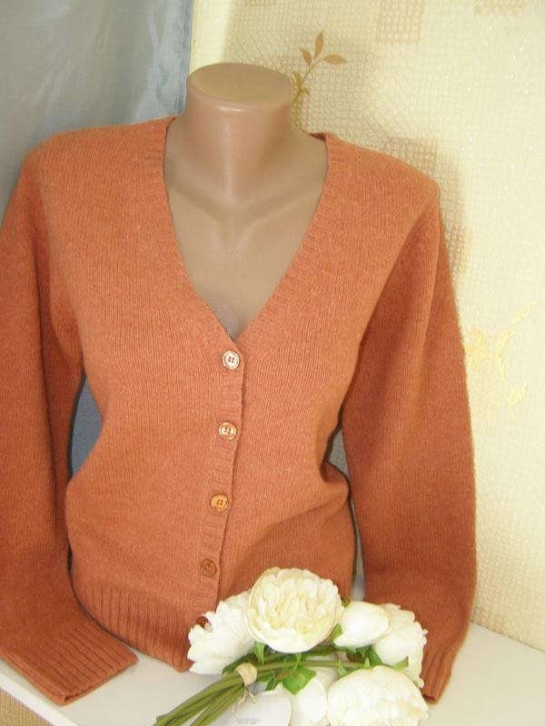 Donna lane кардиган 100% pure new wool шерсть s-m размер