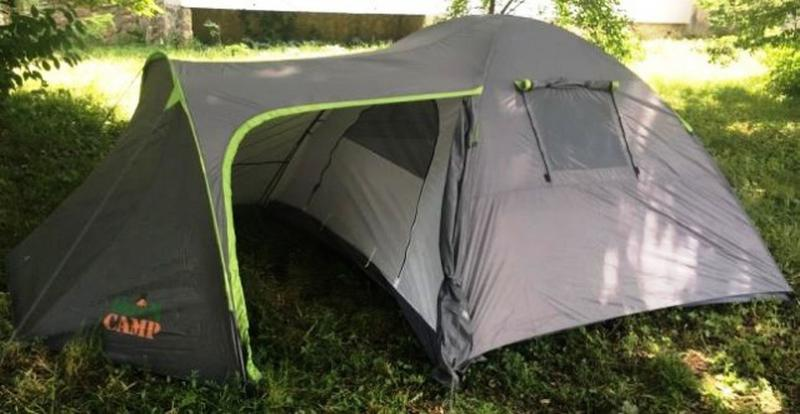 Палатка туристическая 4-х местная GreenCamp 1009-2 два входа
