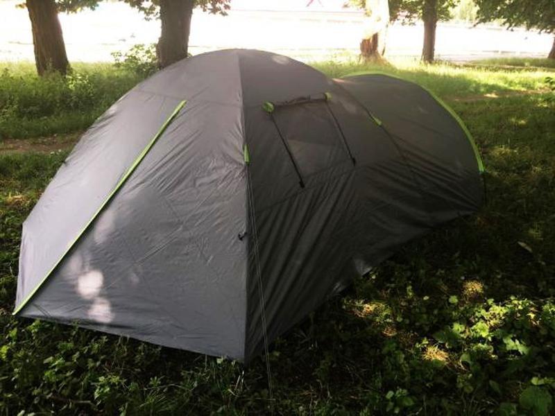 Палатка туристическая 4-х местная GreenCamp 1009-2 два входа - Фото 4