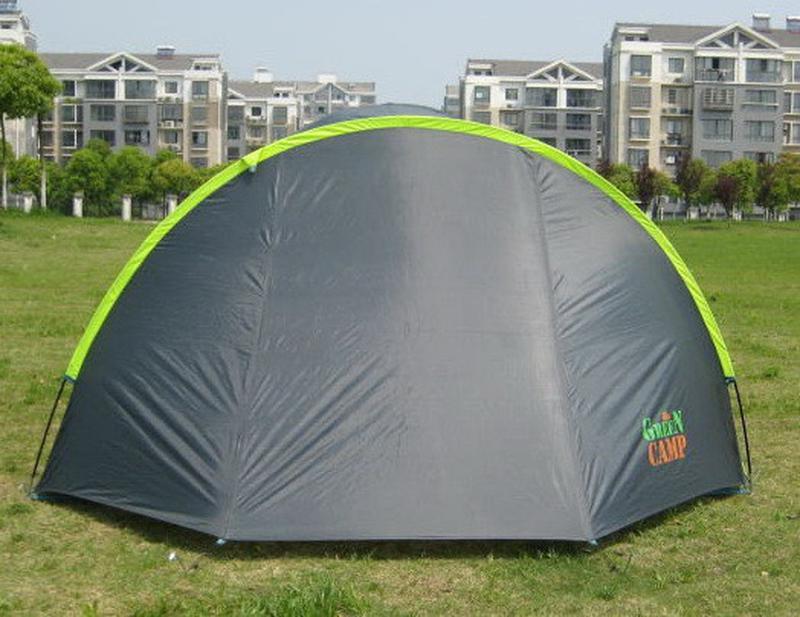 Палатка туристическая 4-х местная GreenCamp 1009-2 два входа - Фото 7