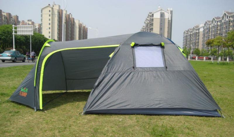 Палатка туристическая 4-х местная GreenCamp 1009-2 два входа - Фото 2