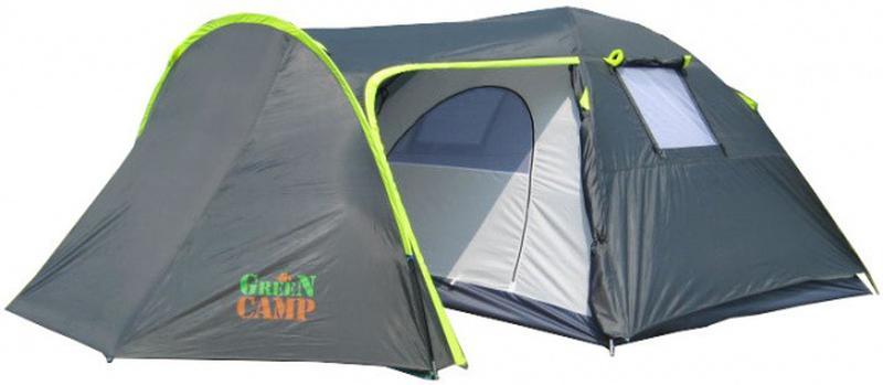 Палатка туристическая 4-х местная GreenCamp 1009-2 два входа - Фото 3