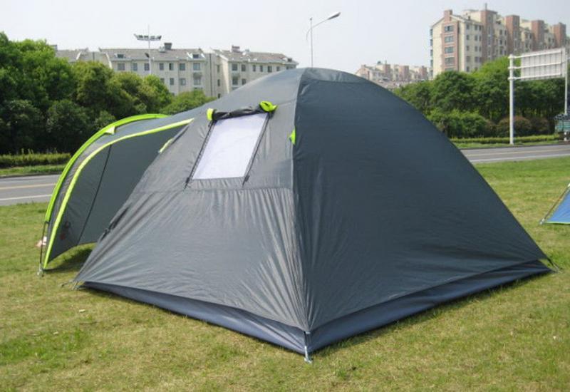 Палатка туристическая 4-х местная GreenCamp 1009-2 два входа - Фото 8