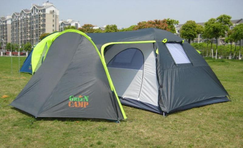 Палатка туристическая 4-х местная GreenCamp 1009-2 два входа - Фото 5