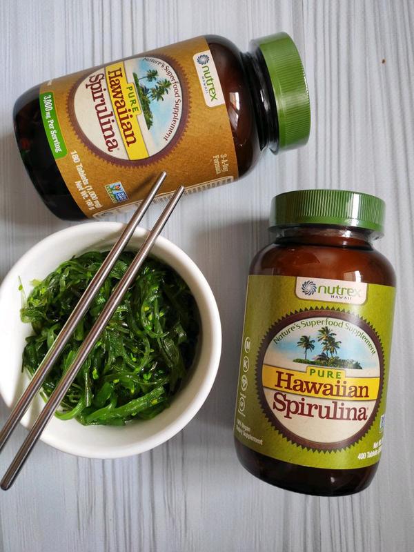 Nutrex Hawaii, Чистая гавайская спирулина , 1000 мг