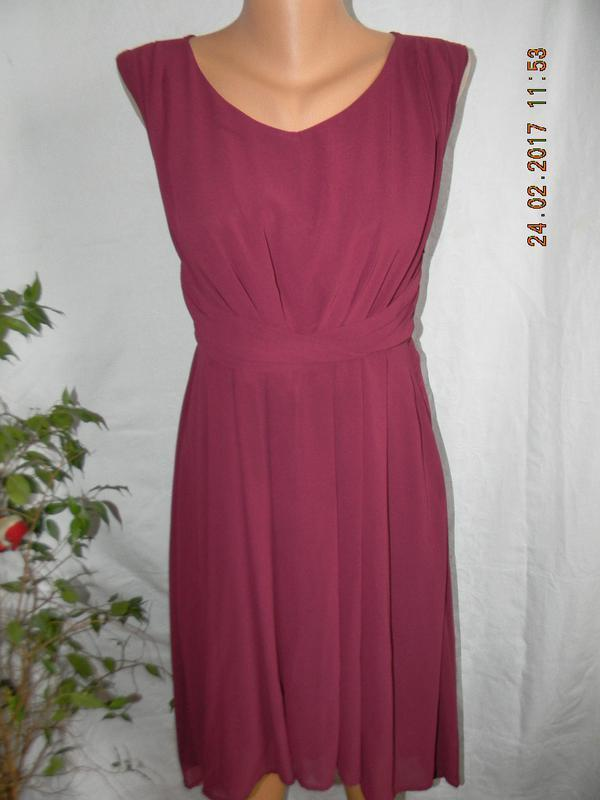 Платье цвета марсала new look