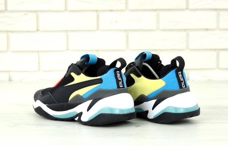 Стильные, модные кроссовки пума puma thunder spectra black blue. - Фото 9