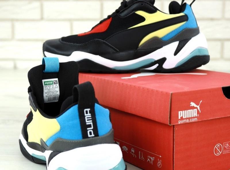 Стильные, модные кроссовки пума puma thunder spectra black blue. - Фото 10