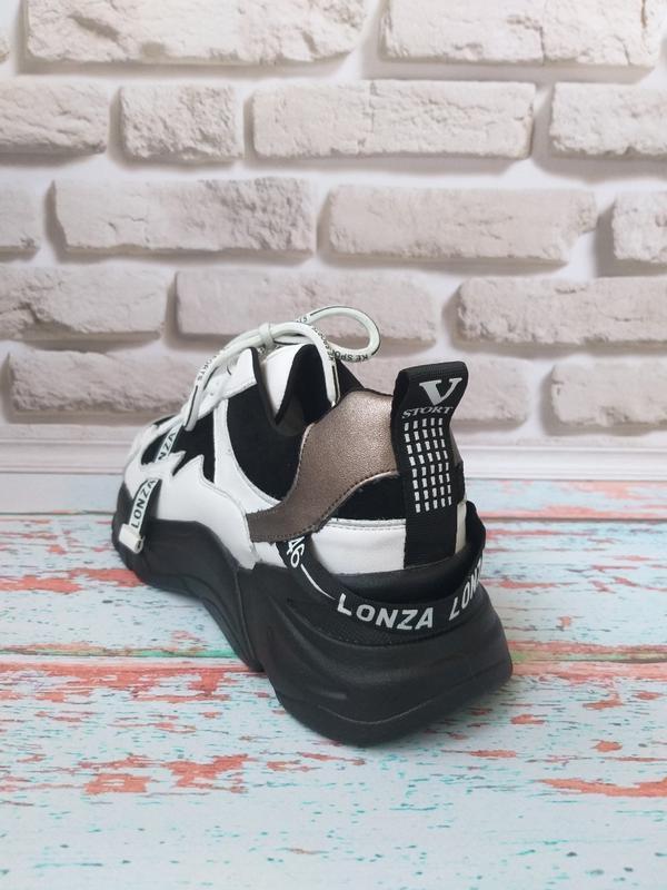 Кожаные кроссовки в стиле balenc!aga - Фото 2