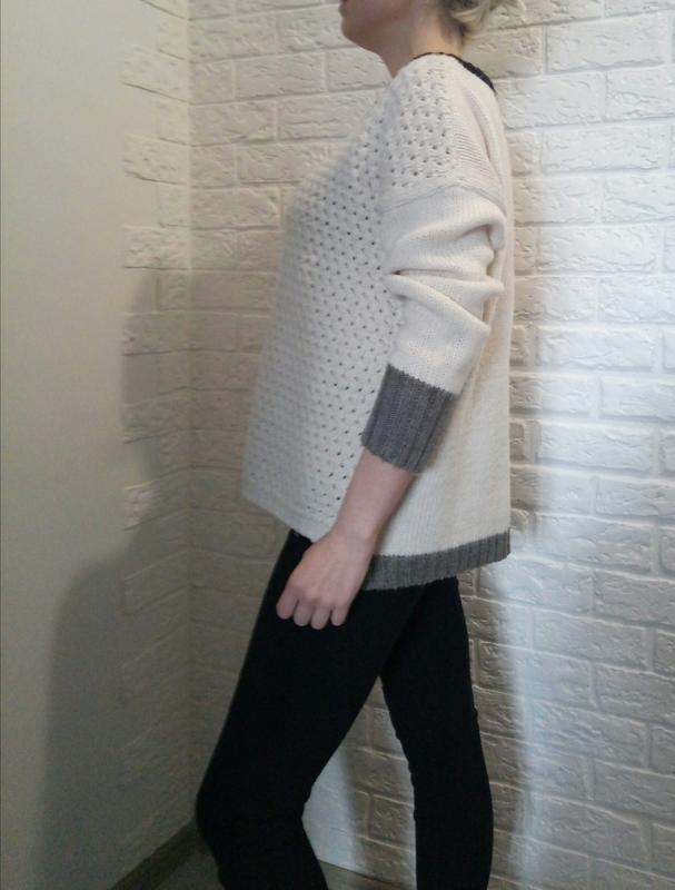 Продам свитер белый, оверсайз, XL - Фото 2