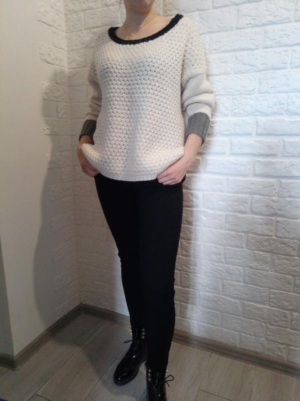 Продам свитер белый, оверсайз, XL