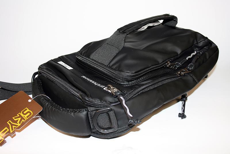 Сумка на плечо мужская, городской рюкзак, полтэстер - Фото 5