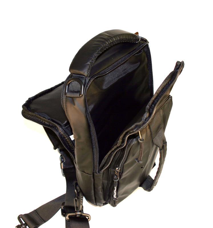 Сумка на плечо мужская, городской рюкзак, полтэстер - Фото 7