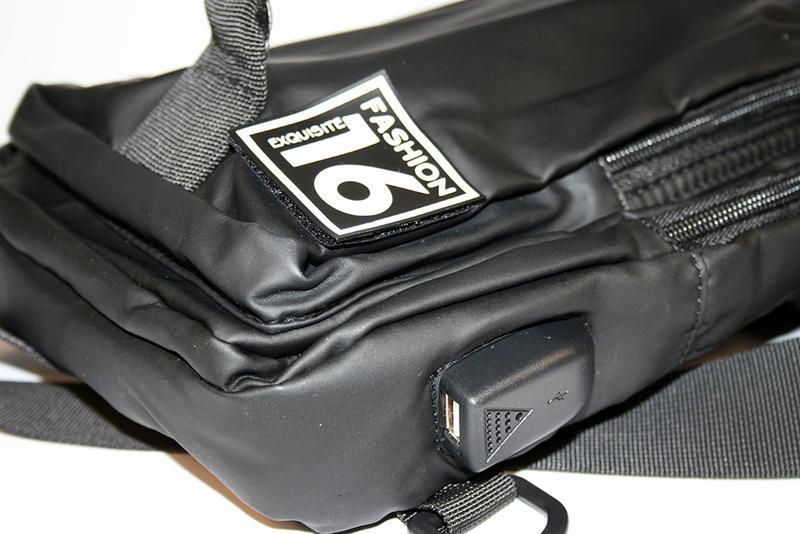 Сумка на плечо мужская, городской рюкзак, полтэстер - Фото 8