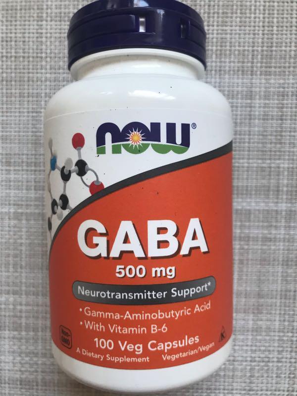 Now Foods , GABA , успокоительное GABA , ГАМК , 500 mg , 100 капс