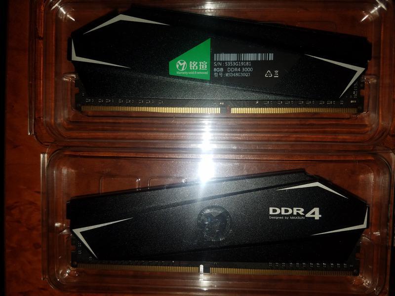 Оперативная память MAXSUN DDR4 16GB (8+8) 3000MHZ - Фото 10