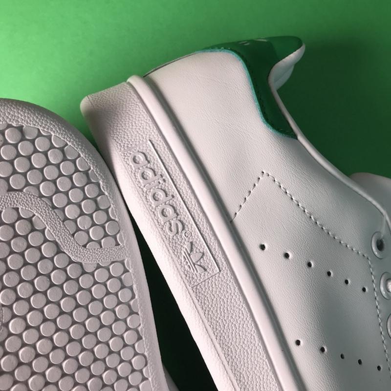 Свежак! женские кожаные кроссовки adidas stan smith white green. - Фото 6
