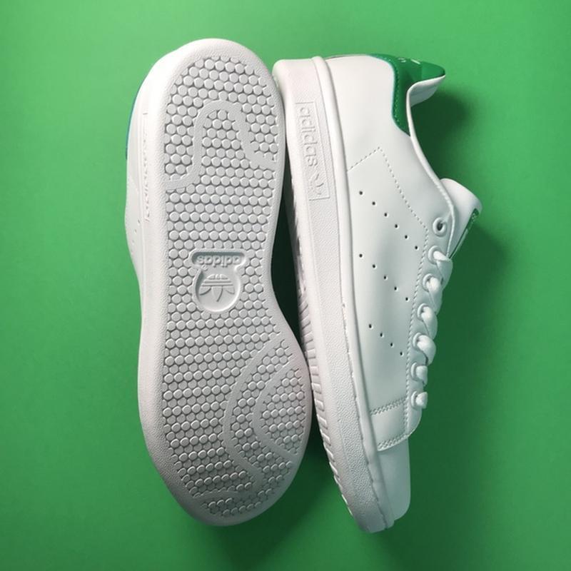 Свежак! женские кожаные кроссовки adidas stan smith white green. - Фото 7