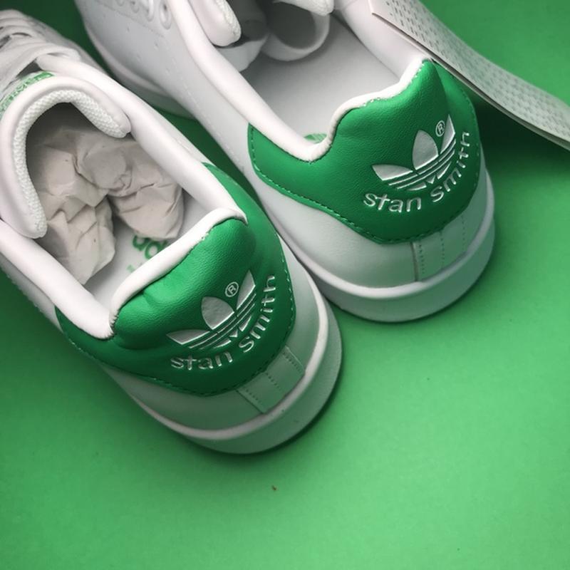 Свежак! женские кожаные кроссовки adidas stan smith white green. - Фото 8