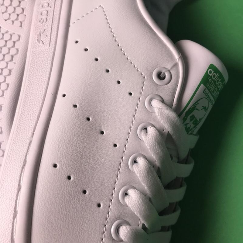 Свежак! женские кожаные кроссовки adidas stan smith white green. - Фото 9