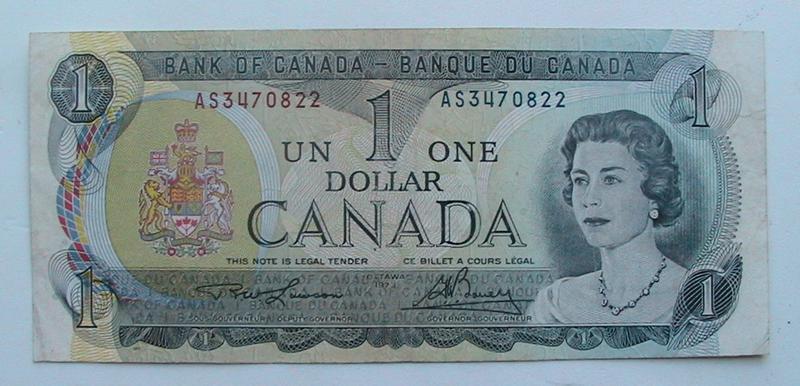 Канада Canada1 доллар 1973 бона