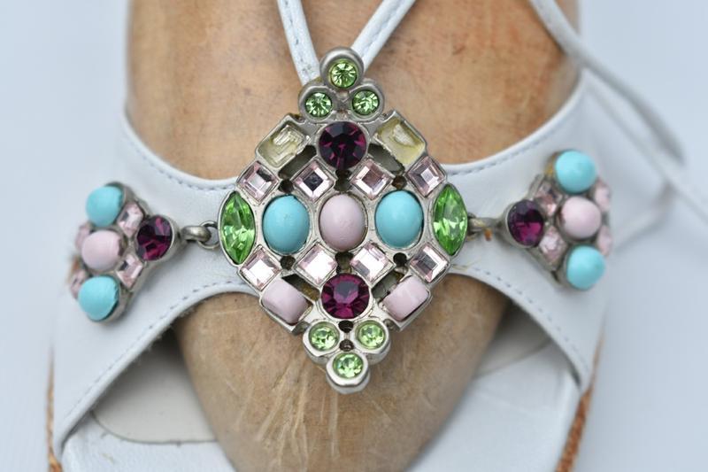 Stuart weitzman оригинал!! женские босоножки с камнями размер 39 - Фото 10