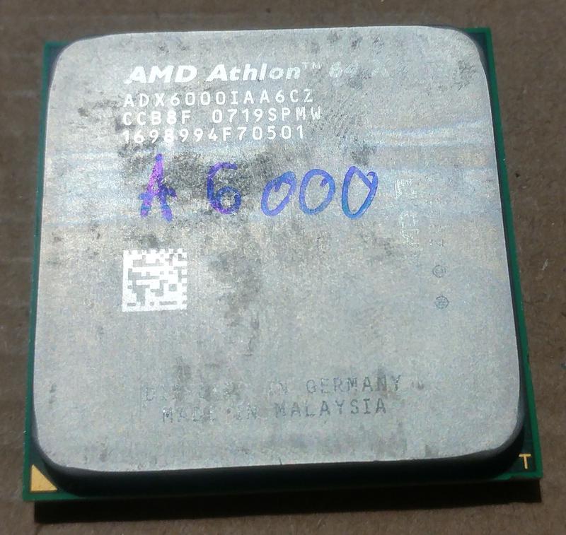 Процессор сокет AM2 AMD Athlon 64 X2 6000+ ADX6000IAA6CZ 3ГГц