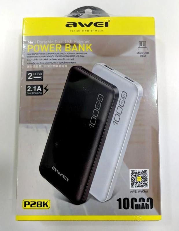 Power Bank Awei P28K 10000 mAh Plus Портативное зарядное устро... - Фото 7
