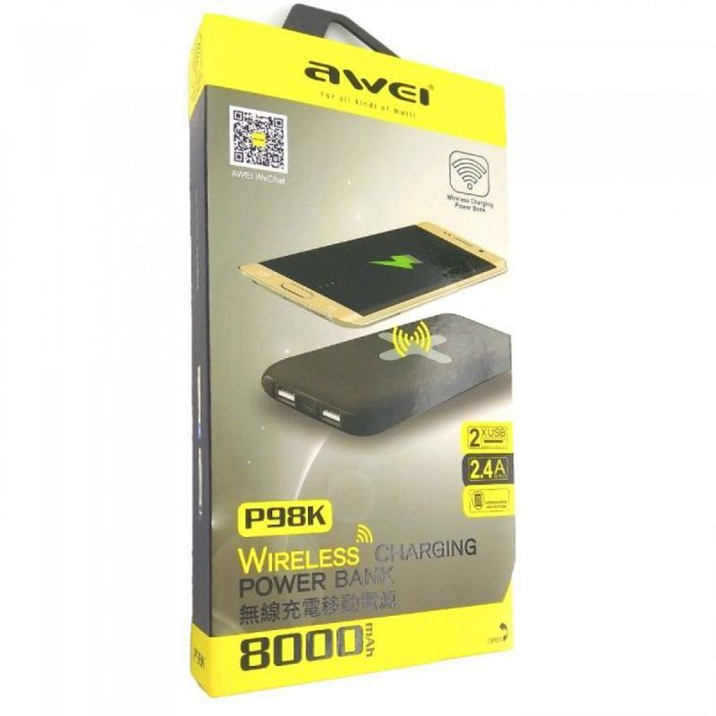 Power Bank AWEI P98K Беспроводная зарядка повербанк мобильная ... - Фото 5
