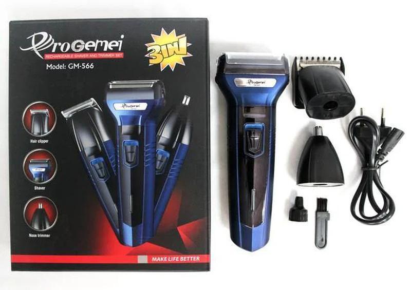 Бритва триммер машинка для волос ProGemei GM-566 3в1 Есть Опт ...