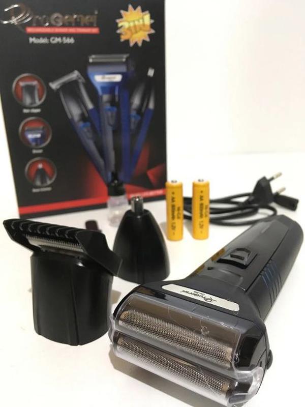 Бритва триммер машинка для волос ProGemei GM-566 3в1 Есть Опт ... - Фото 2