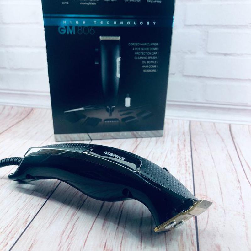 Машинка для стрижки волос GEMEI GM 806 лезвия из нержавеющей С... - Фото 3