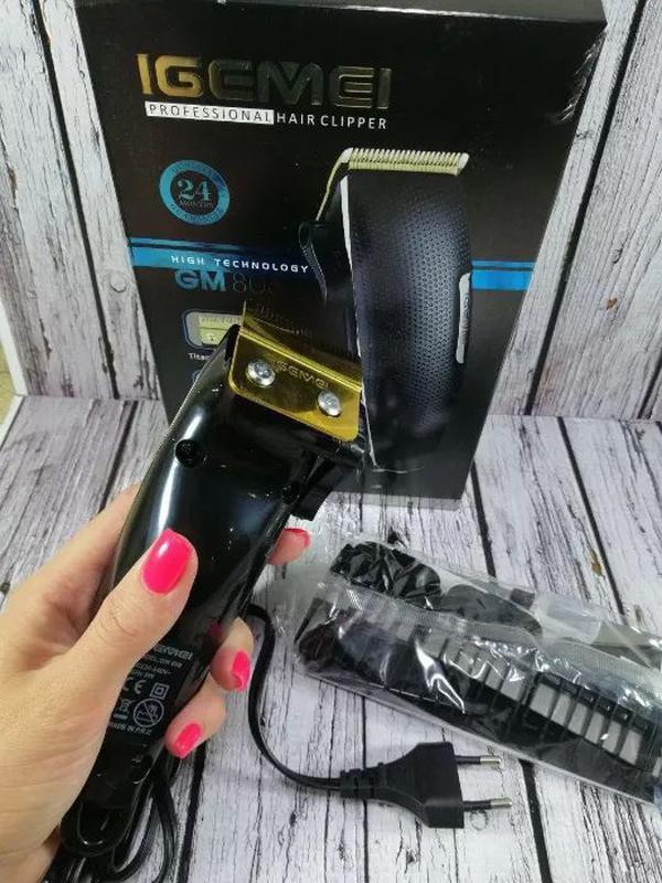 Машинка для стрижки волос GEMEI GM 806 лезвия из нержавеющей С... - Фото 5