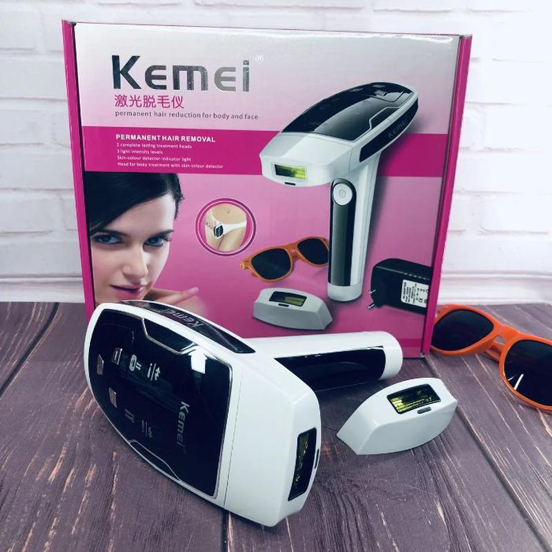 Лазерный фотоэпилятор Kemei KM-6812 S для лица и тела женский ... - Фото 7