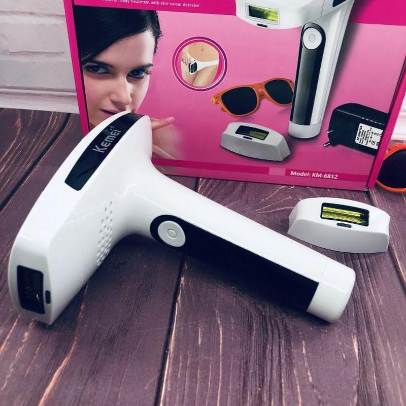 Лазерный фотоэпилятор Kemei KM-6812 S для лица и тела женский ... - Фото 8