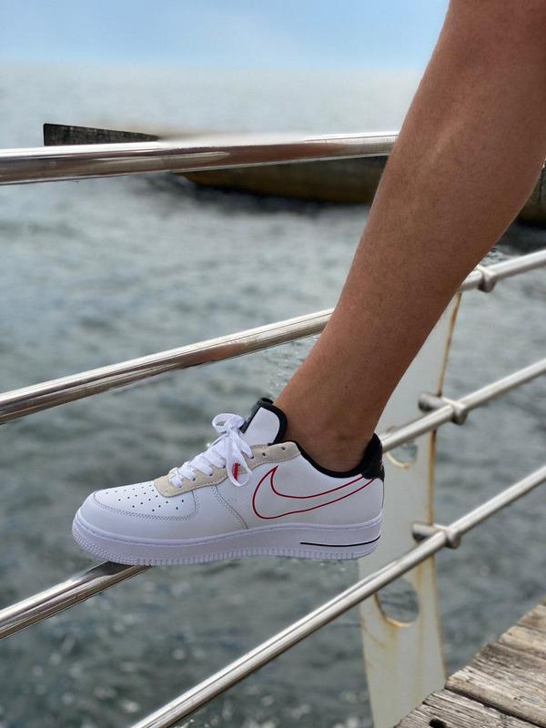Кроссовки Nike Air Force Script Swoosh White - Фото 9