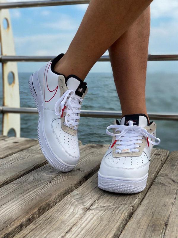 Кроссовки Nike Air Force Script Swoosh White - Фото 6