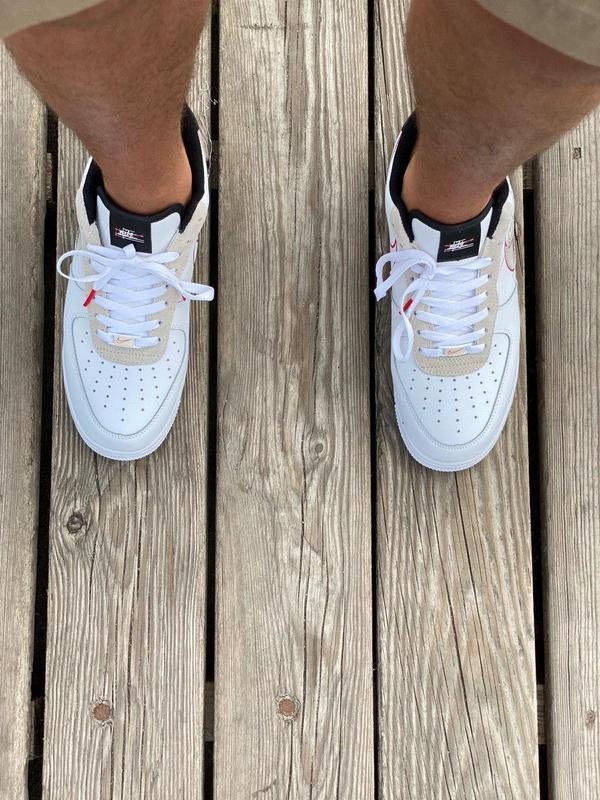 Кроссовки Nike Air Force Script Swoosh White - Фото 8