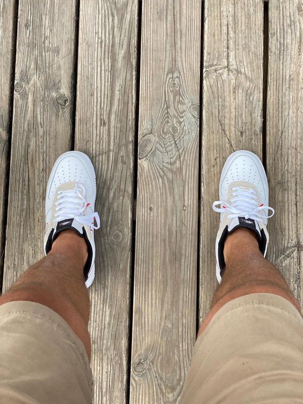Кроссовки Nike Air Force Script Swoosh White - Фото 5