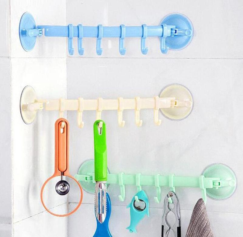 Вешалка с крючками для кухни и ванной.