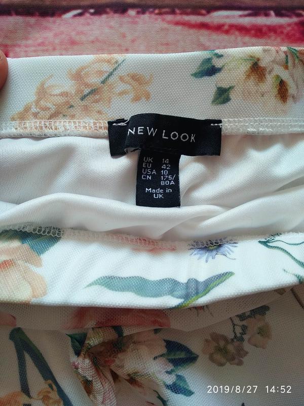 Нежная юбка в цветочный принт 🌺 new look - Фото 8