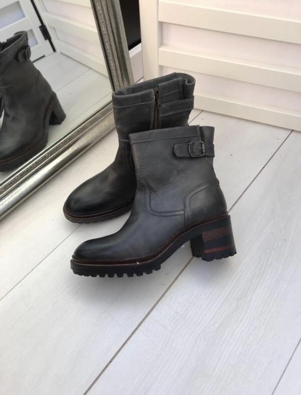 Ботинки на удобном каблуке napapijri 37 p оливковые - Фото 2