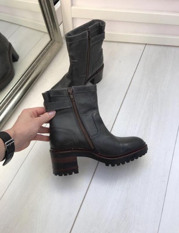 Ботинки на удобном каблуке napapijri 37 p оливковые - Фото 4
