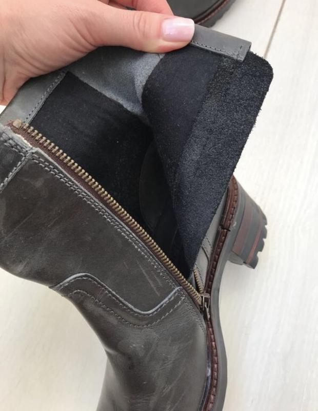 Ботинки на удобном каблуке napapijri 37 p оливковые - Фото 5