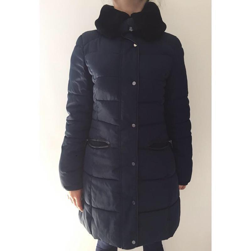 Зимова куртка, зимове пальто, куртка зимова темно-синя, пальто...