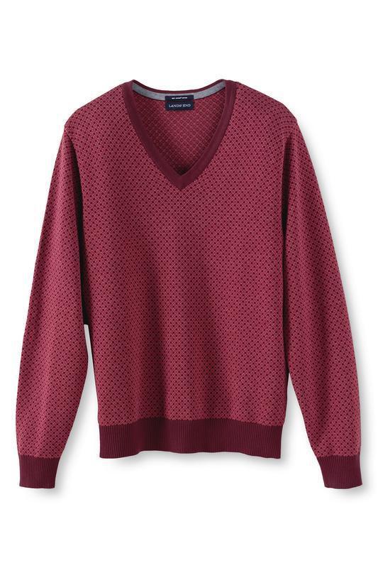 Пуловер мужской классический fit fit с v-образным вырезом, lan...